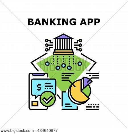 Banking App Vector Icon Concept. Banking App For Make Transaction Money And Online Payment, Monitori