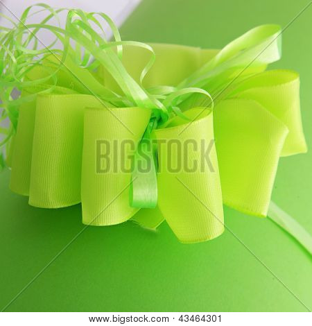 Decorative Green Bow