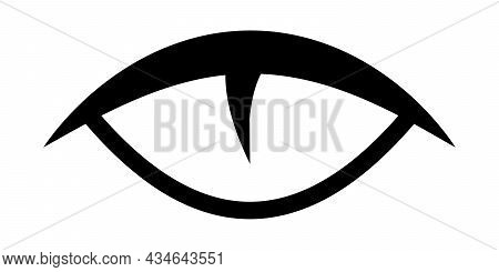 Eye Of A Wild Predatory Animal Cat Reptile, Vector Eye Seeing At Night Logo Tattoo