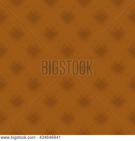 Diagonal Scrim Linen Weave Texture Vector Pattern. Seamless Monochrome Ochre Woven Yarn Effect Backd