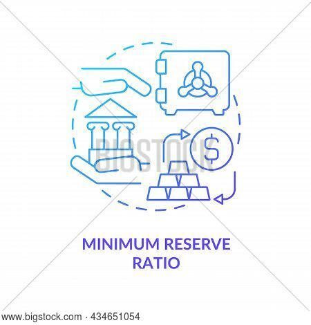 Minimization Of Reserve Ratio Concept Icon. Bank Regulation System Requirements. Monetary Policy Ins