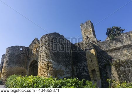 A Historical Gate Into The Historic Town Of Domme In The Dordogne Region Of France