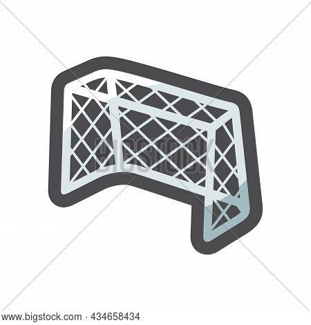 Ice Hockey Goal Vector Icon Cartoon Illustration