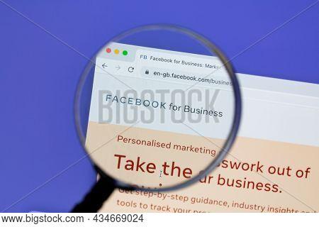 Ostersund, Sweden - Sep 30, 2021 Facebook for Business website.. Facebook is the most visited social network in the world