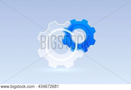 Glass Settings Mechanical Transparent Icon, Collection Sign. Vector