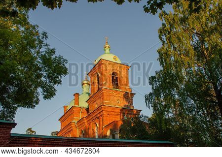 Resurrection Skete Of The Valaam Monastery On Summer Day. Pilgrimage And Tourism Concept