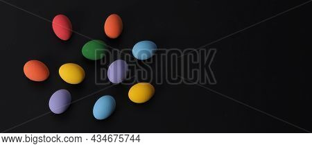 Easter Eggs Or Color Egg. Multi-colorful Of Easter Eggs