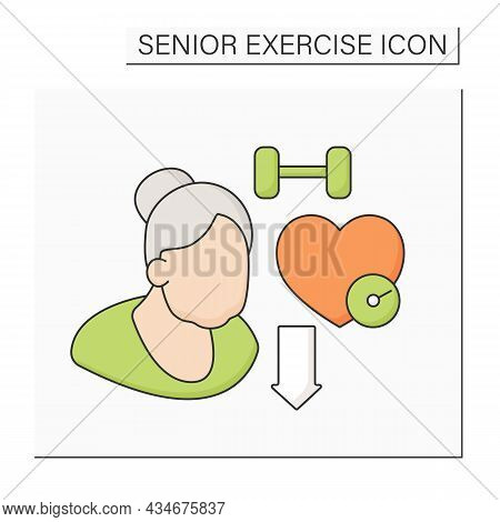 Disease Prevention Color Icon. Exercise Reduces The Impact Of Chronic Diseases. Health Protection. H