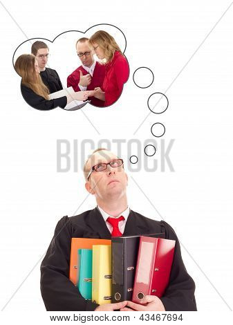 Lawyer With A Lot Of Work