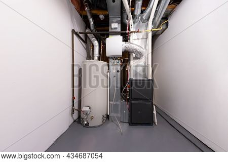 A Home High Efficiency Furnace. Furnace Dual Stage Electronically Commutated Motors. Motor Upflow/ho
