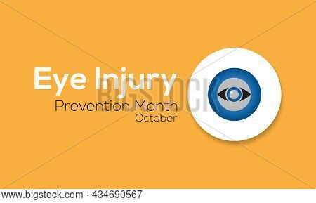 Eye Injury Prevention Awareness Observance Day Banner Template Design With White Background.