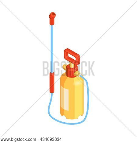 Pest Control Equipment Icon Sprayer With Toxic Pesticide Isometric Vector Illustration