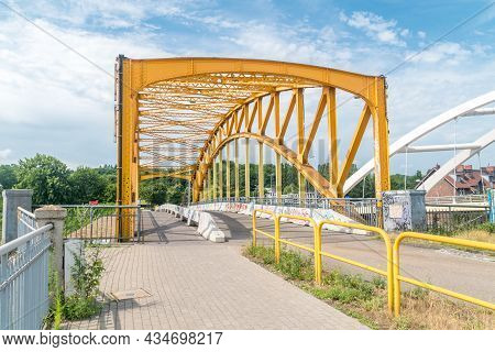 Gdansk, Poland - July 9, 2021: Remains Of The Old Viaduct In Gdansk.