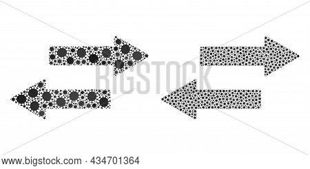 Vector Covid Mosaic Horizontal Exchange Arrows Organized For Pandemic Applications. Mosaic Horizonta