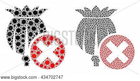 Vector Coronavirus Mosaic Forbid Poppy Done For Vaccination Illustrations. Mosaic Forbid Poppy Is Ba