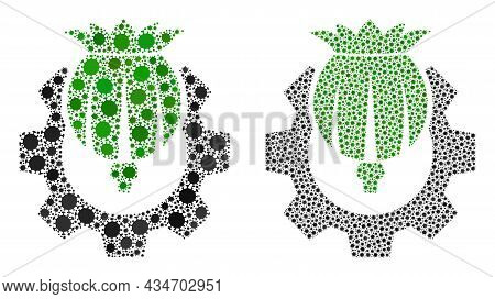 Vector Covid Mosaic Opium Industry Created For Lockdown Advertisement. Mosaic Opium Industry Is Base