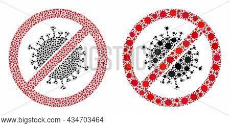 Vector Coronavirus Mosaic Stop Coronavirus Constructed For Clinic Posters. Mosaic Stop Coronavirus I