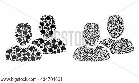 Vector Coronavirus Mosaic Clients Constructed For Health Care Wallpapers. Mosaic Clients Is Based On