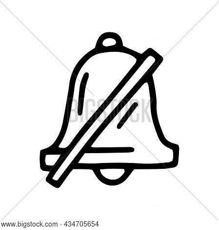 Turn Off Notifications Line Vector Doodle Simple Icon