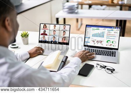 Financial Kpi Dashboard Video Webinar On Computer