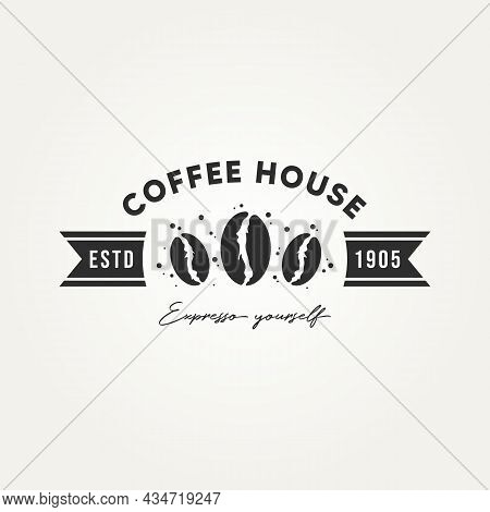 Vintage Coffee House Logo Vector Illustration Design. Retro Classic Bar, Restaurant, Cafe Emblem Log
