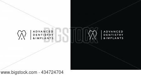 Modern And Unique Dental And Dental Implant Logo Design 2
