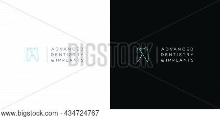 Modern And Unique Dental And Dental Implant Logo Design