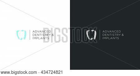 Modern And Unique Dental And Dental Implant Logo
