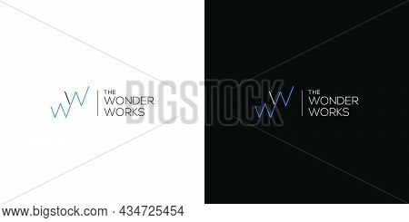 Simple And Modern Ww Letter Initials Logo Design