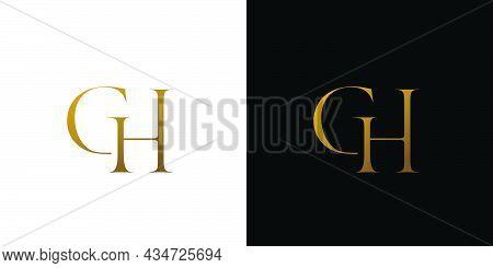 Unique And Luxury Gh Initials Logo Design