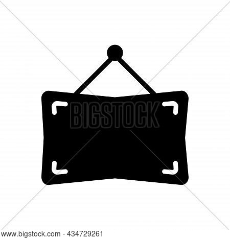 Black Solid Icon For Frame Picture Image Photo Photograph Gallery Placeholder Interior Exhibition