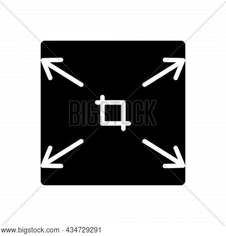Black Solid Icon For Stretch Inbreak Extend Axis Arrow Fullscreen Widen Enlarge Expand Maximize