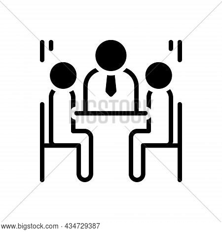 Black Solid Icon For Council Advisory-body Jury Committee Delegates Debate Conversation Authority