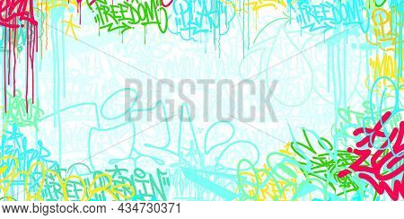 Colorful Flat Light Abstract Hip Hop Street Art Graffiti Style Urban