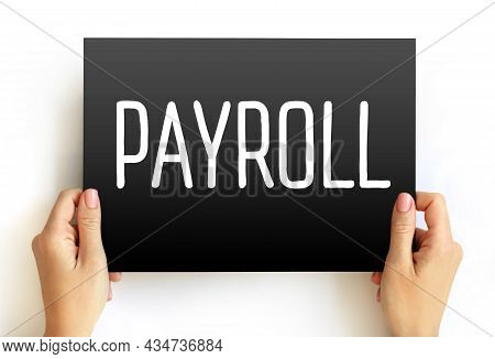 Payroll - Text On Card, Concept Background