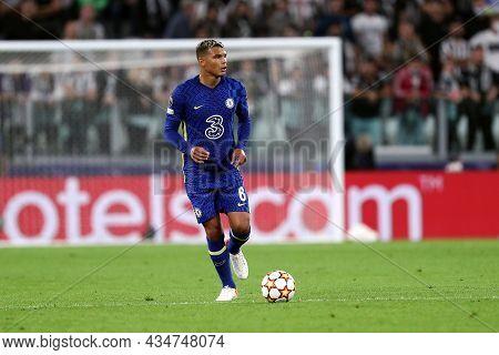 Torino, Italy. 29 September 2021. Thiago Silva Of Chelsea Fc  During The  Uefa Champions League Grou
