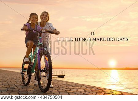Little Things Make Big Days. Motivational Quote Reminding That Moments Of Joy Building Up Happy Life