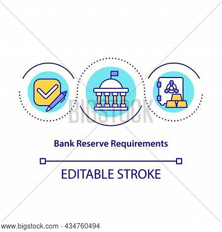 Bank Reserve Requirements Concept Icon. Financial Management Of Bank. Banking System Operations Abst