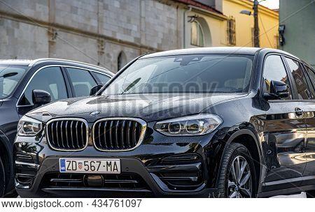 Zadar, Croatia - July 30, 2021: Bmw X5 Car In The City Parking Lot, In Zadar, Croatia.