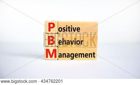 Positive Behavior Management Symbol. Concept Words Positive Behavior Management On Blocks On A Beaut