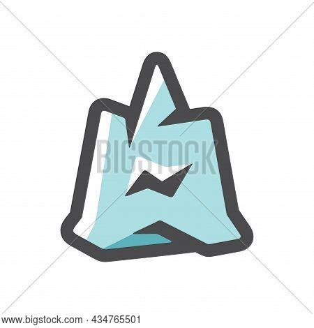 Iceberg Ice Mountain Vector Icon Cartoon Illustration
