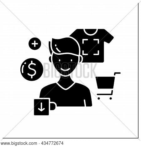 Creator Glyph Icon. Sell Custom Printed Products. Print Images On Shirts Or Cups. Handmade. Small Bu