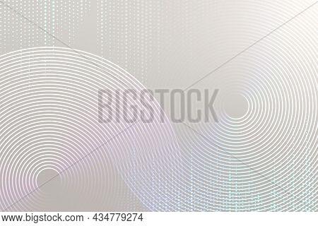 Geometric pattern gray technology background with circles