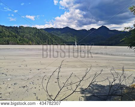 Artificial Lake Formed In Geamana Village, Alba County, Romania, For Depositing The Toxic Waste From