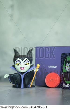 Bangkok, Thailand - September 20, 2021 : Cute Figurine Of Maleficent: Mistress, Figurine In Blind Bo