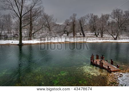 Pond in the town of Chekhov