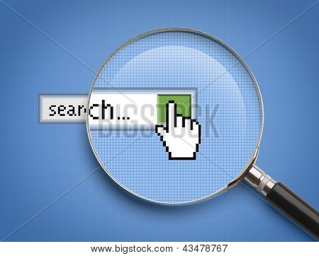 Online Search Magnifying Glass