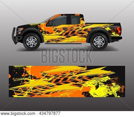 Racing Background For Vinyl Wrap And Decal For Truck And Vehicle Graphic Vector