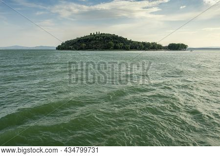 View Of Isola Maggiore, Lake Trasimeno, Tuoro Sul Trasimeno, Umbria, Italy