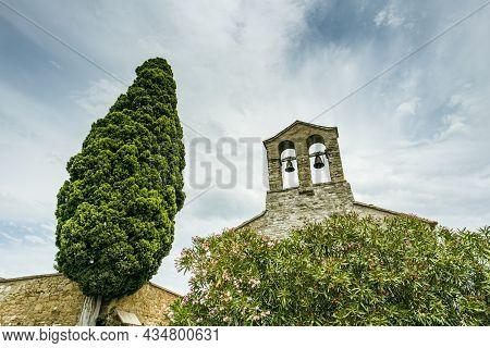 View Of The Ancient Church Of Saint Francis, Isola Maggiore, Lake Trasimeno, Tuoro Sul Trasimeno, Um